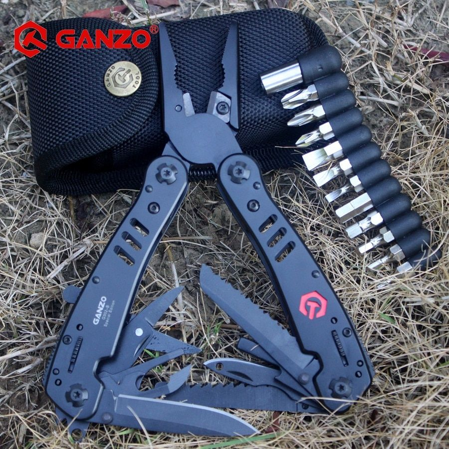 Ganzo G302 G302H Multi Tool Knife Plier EDC Ganzo Tools Folding Multitool Plier G302H Multifunction Capming <font><b>Survival</b></font> Knife Bits
