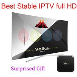 Android TV box VOLKA IPTV Abonnement arabe europe français italien espagnol flux en direct lecteur IPTV code 1800 canaux et 2000