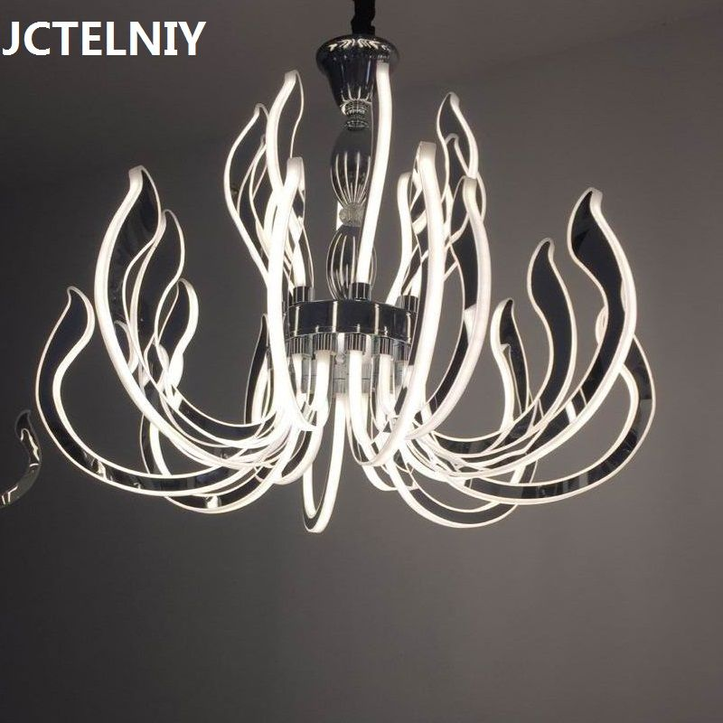 Modern luxury LED chandelier  acrylic lamp for living room restaurant
