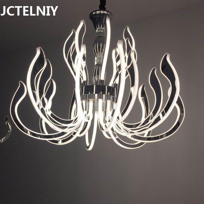 Moderne luxus FÜHRTE kronleuchter acryl lampe für wohnzimmer restaurant