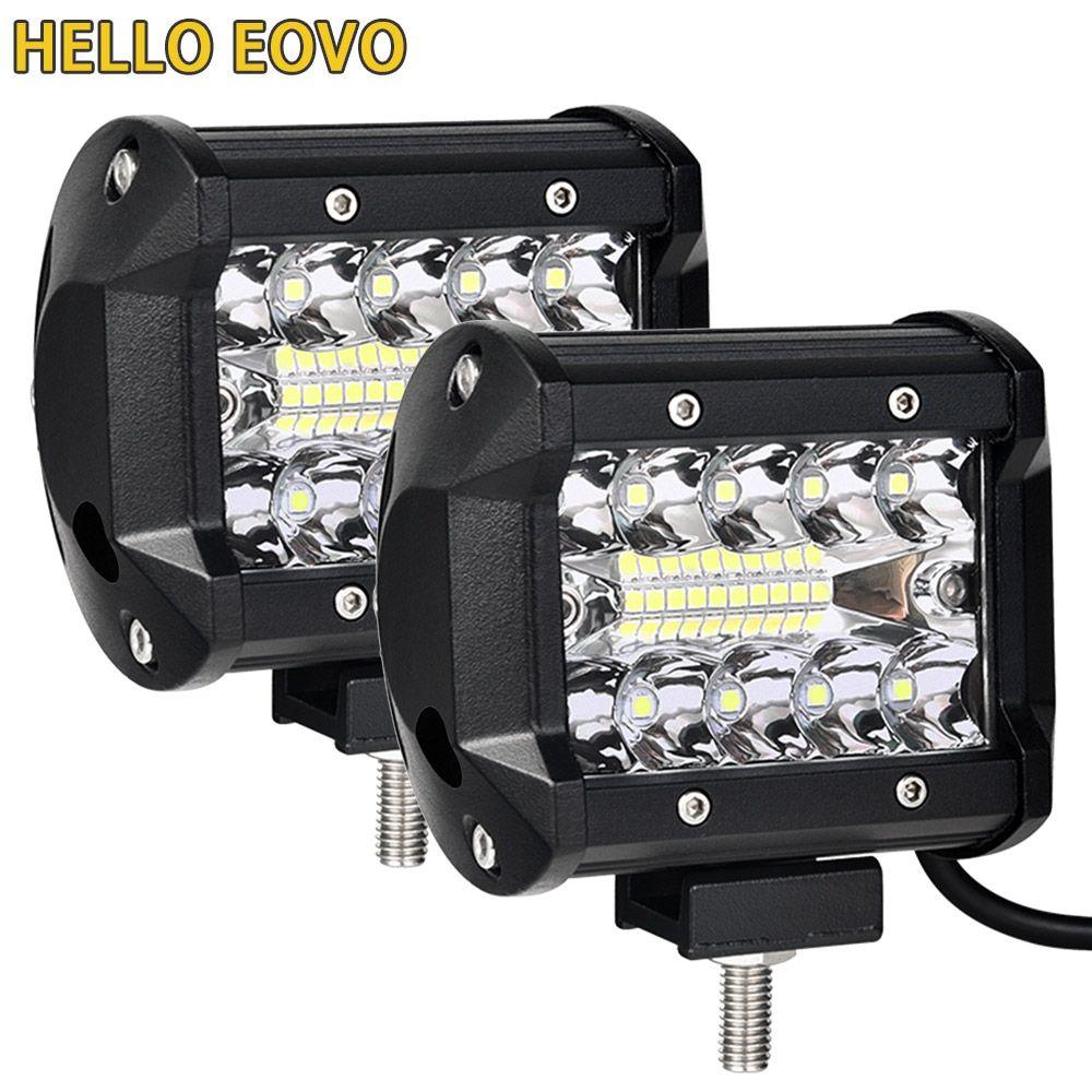 4 inch barre de LED LED barre lumineuse de travail pour conduire Offroad bateau voiture tracteur camion 4x4 SUV ATV 12V 24V évalué 60W réel 15W