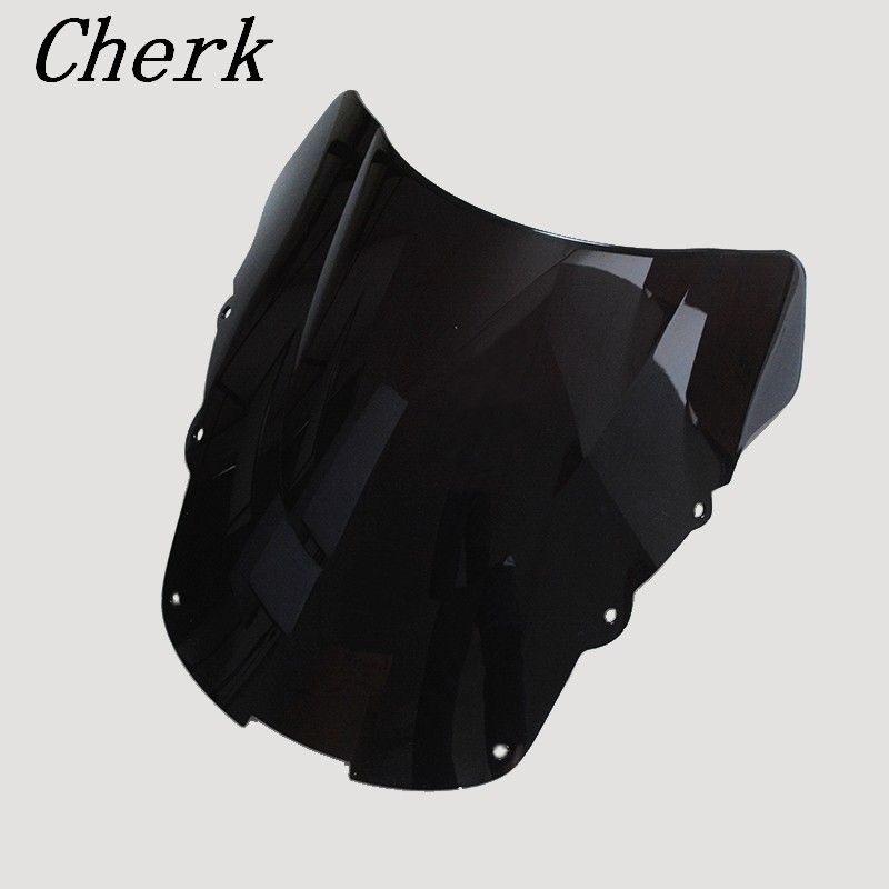 Motorcycle Black ABS Windshield WindScreen Double Bubble For HONDA CBR1100XX CBR 1100 XX 1996-2007 98 99