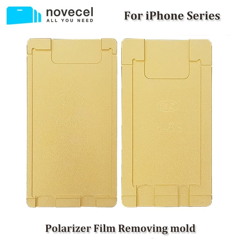 Novecel 1pcs polarizer mould for iphone 4 4s 5 5s 6 6s 7 8 plus LCD remove polarizer film glue adhesive mould for screen repair