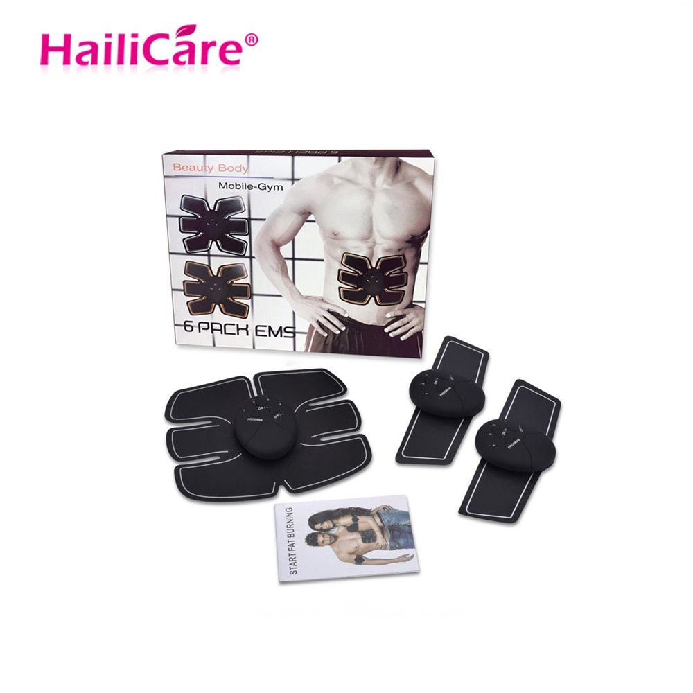 Body Slimming Massager EMS Muscle Training Stimulator Device Abdominal Wireless EMS Gym Professinal Home Fitness Beauty Gear