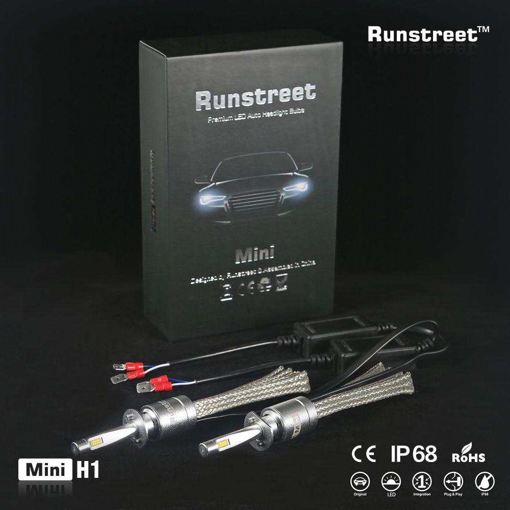 Car LED Headlight 6000K H1 H3 H4 H7 H8 H11 9005 HB3 9006 HB4 9012 HIR2 Auto Fog Lamp Light Bulb main dipped beam Runstreet