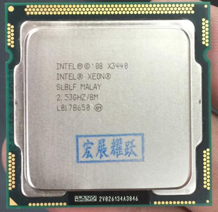 Processeur intel xeon X3440 Quad-Core (8 M Cache, 2.53 GHz)) LGA1156 CPU 100% fonctionne correctement processeur d'ordinateur de bureau