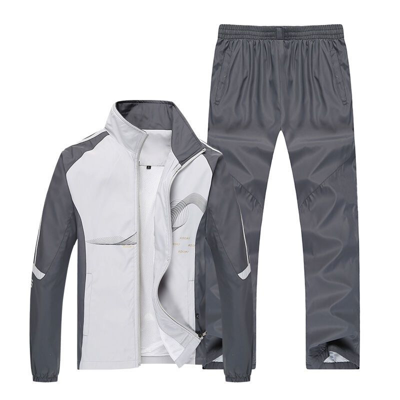 Men Sport Suits Sportswear Set New Style Polyester Fabric Fitness Training Tracksuit Zip Pocket Running Sets Mens Jogging Suit