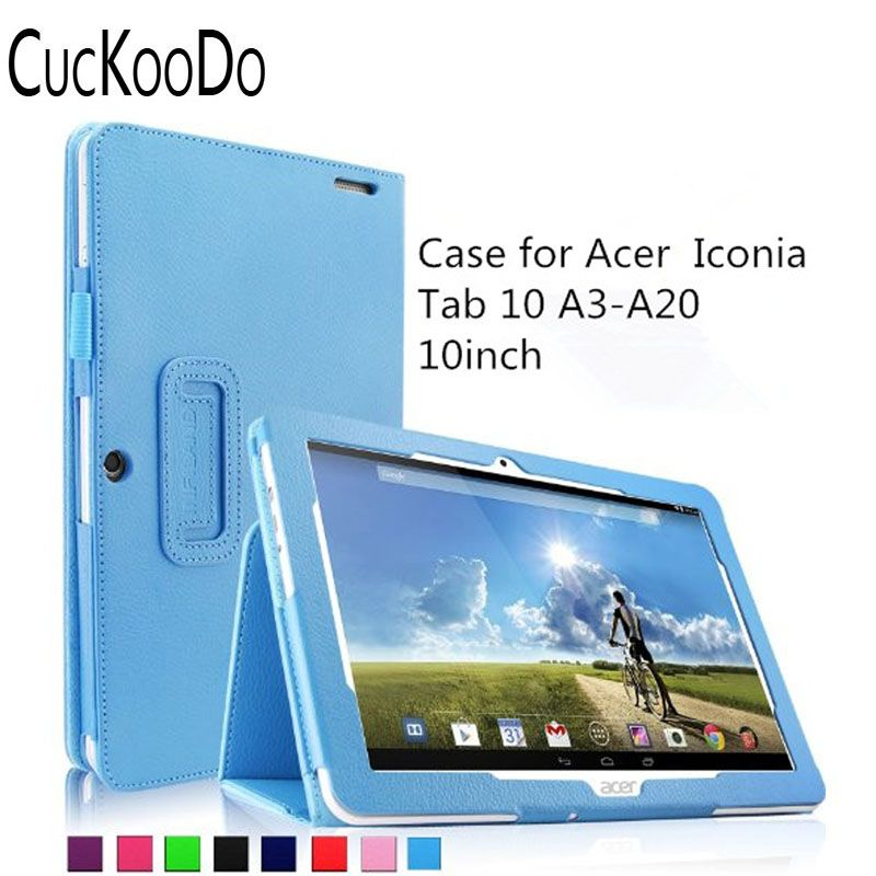 CucKooDo Folio PU cuir Slim Fit support du boîtier pour Acer Iconia Tab 10 A3-A20 10.1 pouces HD tablette (Acer Iconia Tab 10 A3-A20)
