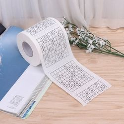 Durable Sudoku Su Printed Tissue Paper Toilet Roll Paper Good Puzzle Game Funny Practical Life Tool New