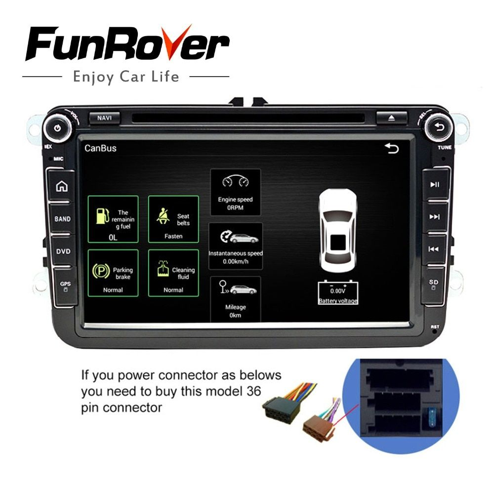 2 Din Car DVD Player 8' HD For VW POLO Russian version hechbeg s201goda unsold vento polo sedan With GPS Navigation Radio RDS FM