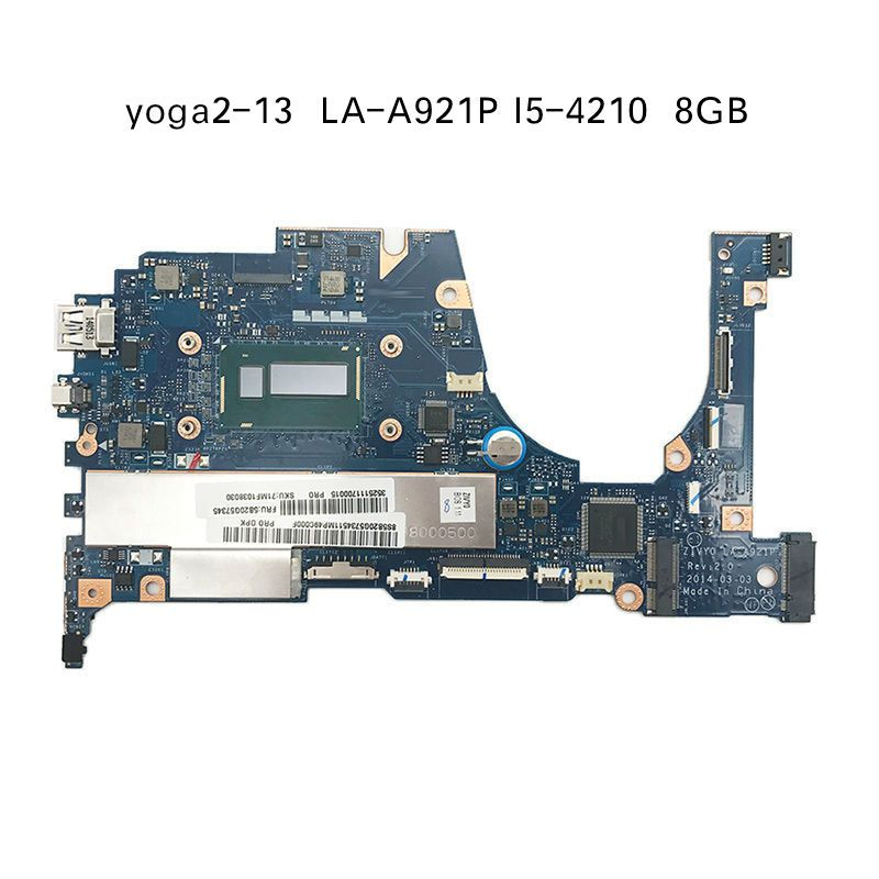 Free Shipping For Lenovo YOGA 2 13 Yoga2 13 Laptop Motherboard FRU 5B20G19207 LA-A921P with i5-4210 1.70GHz CPU 8GB RAM