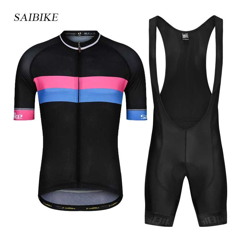 saiBike Pro Cycling Jersey Set 2018 Mountain Bike Clothing MTB Bicycle Tops Wear Maillot Ropa Ciclismo Men Summer Cycling Sets