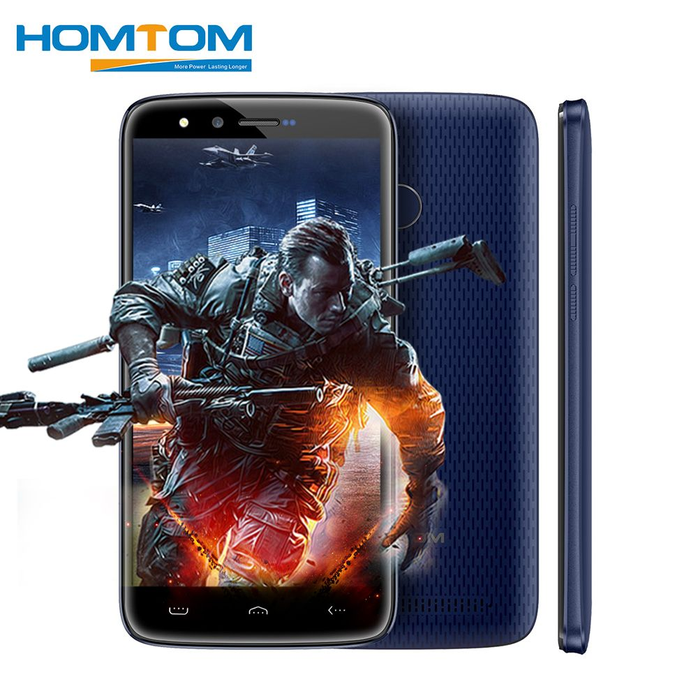 HOMTOM HT50 4G Android 7.0 MTK6737 Quad Core Smartphone 5.5 Inch 3GB RAM 32GB ROM 8MP+8MP Dual Cameras <font><b>5500mAh</b></font> Mobile Phones