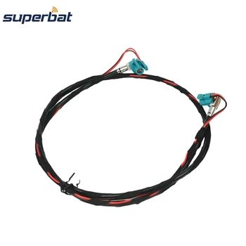 Superbat for BMW F10 F15 F20 F25 F30 Fakra Z HSD Female Jack Right Angle NBT Video Decar 535 Cable 100cm