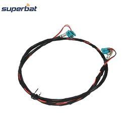 Superbat untuk BMW F10 F15 F25 F30 F20 Fakra Z HSD Perempuan Jack Sudut Kanan NBT Decar 535 Kabel Video 100 cm