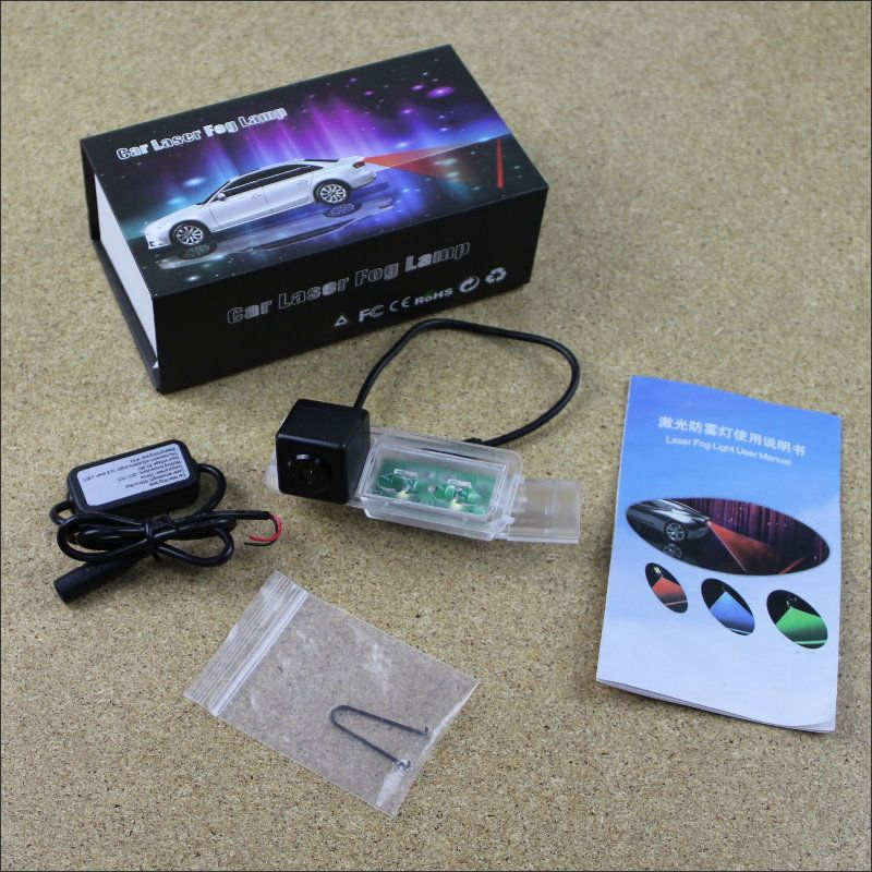 Anti Collision Laser For Porsche Macan 95B 2014 2015 Car Prevent Mist Fog Lamps Laser Anti Haze Lamps Warning Rear Light