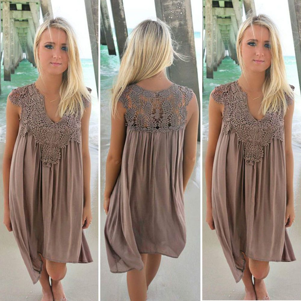 Women <font><b>dress</b></font> 2018 new arrivals fashion sexy summer <font><b>dress</b></font> Loose lace beach <font><b>dress</b></font> women sleeveless Slim women's clothing