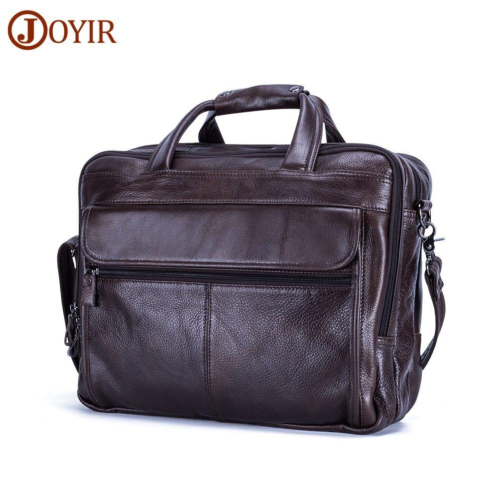 100% Genuine Leather Men Bag Brand Designed Men Laptop Briefcase Business Bag Cow Leather Men Handbag Shoulder Bag Messenger Bag
