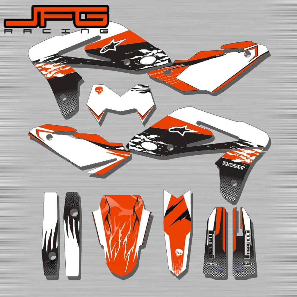 Customized Graphics Background Decals Stickers Kits For Husqvarna TE125 250 300 450 610 FE 250 350 501 SM SMR 510 530