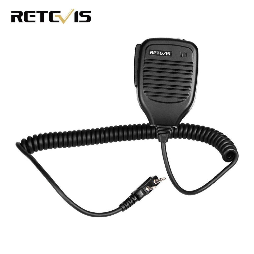2 broches PTT Haut-Parleur Microphone pour Kenwood BAOFENG UV-5R BF-888S Retevis H777 RT3 RT80 TYT PUXING Jambon Radio Talkie-walkie c9001A