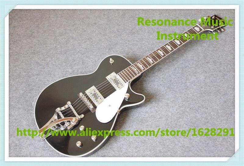 Chinois Brillant Noir G6128T-GH George Harrison Signature Duo Jet Électrique Guitare Avec Bigsby Pour Vente