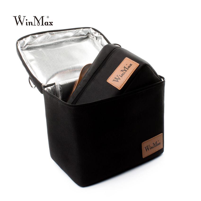 Winmax Grand Isolé Pique-Nique ice Cooler Sac 2 ensembles pizza gâteaux livraison noir Sacs À Lunch Thermique Sacs pour La Nourriture panier sacs à main
