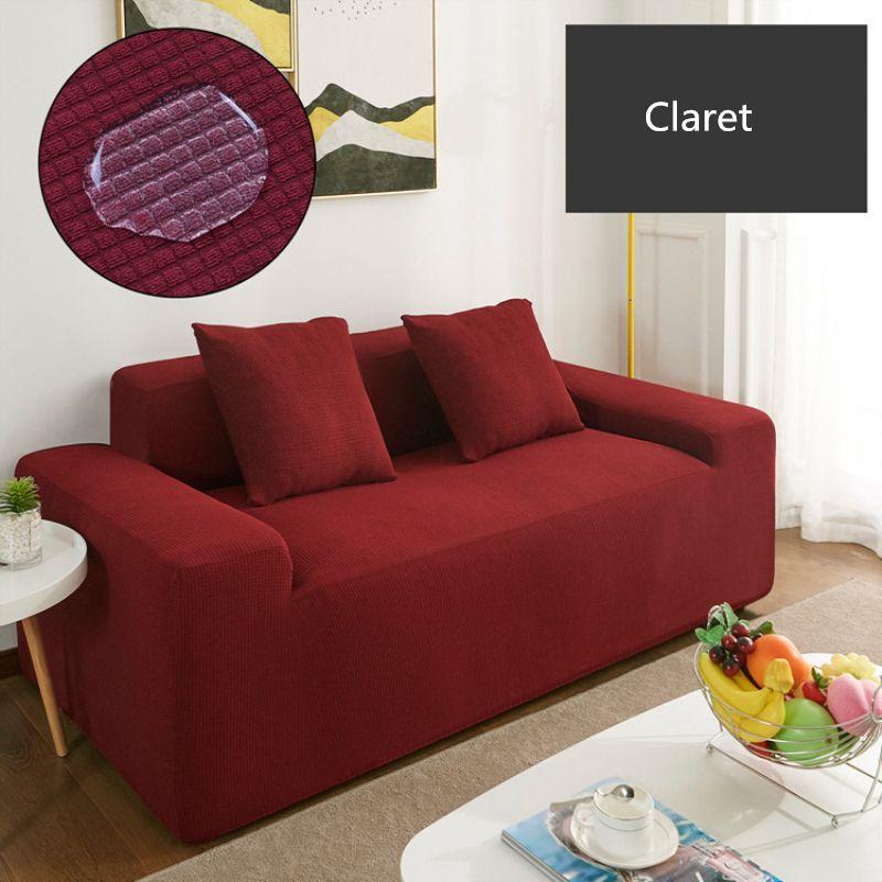 Couverture de canapé polaire universelle imperméable canapé couvre solide couleur élastique housse antidérapante couverture de siège de canapé