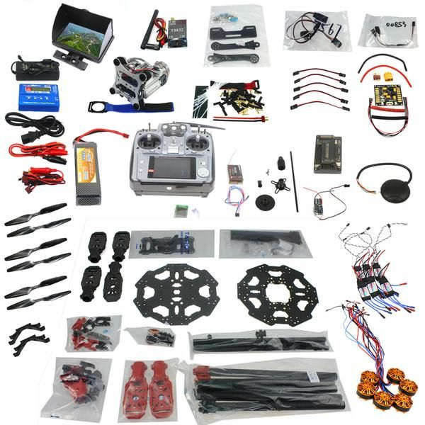 F07807-E Full Set 6-axis Aircraft Kit Helicopter Tarot 680PRO Frame APM 2.8 Flight Control AT10 Transmitter with FPV function