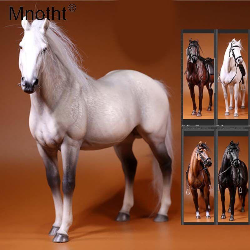 Mnotht Sammlungen 1/6 Skala Deutschland Hannover Warme Blooded Pferd Modell Spielzeug für 12in Action-figuren Zubehör Spielzeug Hobbies