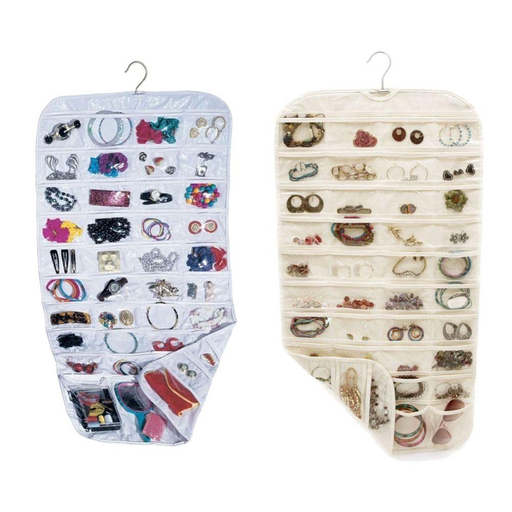 Серьги сумка 80 Карманы ювелирные изделия Висячие хранения Организатор держатель прозрачный Бизнес Членство карты Холдинг сумка