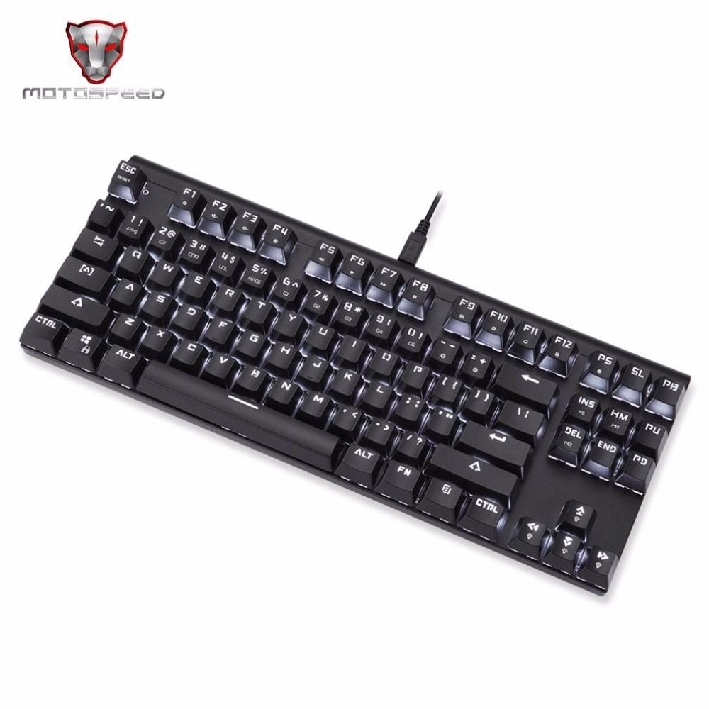 Motospeed CK101 Wired Mechanical Keyboard 87 Keys Game Keyboard LED Backlight Anti-Ghosting for For PC Laptop Games