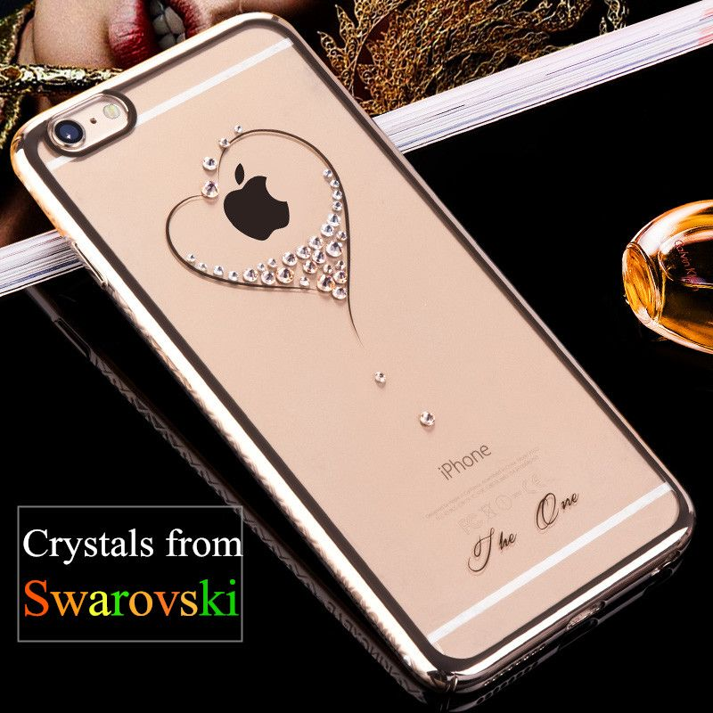 KINGXBAR for iPhone 6s Plus 6 Plus Case Swarovski Element Crystal Diamond Luxury Jewelled Case for iPhone 6 6s Cover Phone Coque