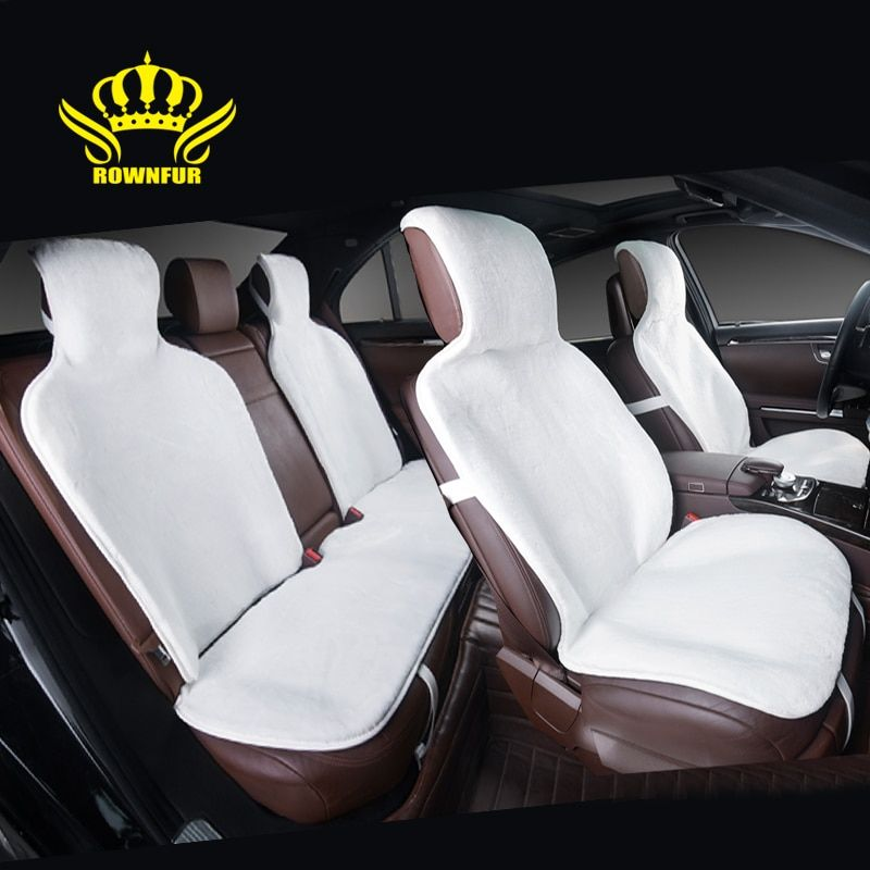 2016 faux fur car seat covers universal siz for all types of seats Full Cover Set 5 color Gray black yellow white beige i022-5