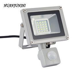 Outdoor Lighting LED Flood Light Led Spotlight Led Reflector 20W Flood Lamps Floodlight With PIR Motion Sensor AC 220V-240V