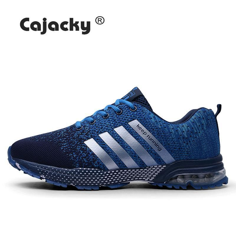 Cajacky Running Shoes Unisex Big Size 47 Jogging Sneakers 2019 Summer Autumn Trainers Male Krasovki Breathable Lightweight Shoes