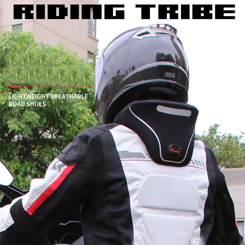 Riding tribe Motorcycle neck protection riding neckguard Reflective zipper 3D Cervical spine protective moto parts