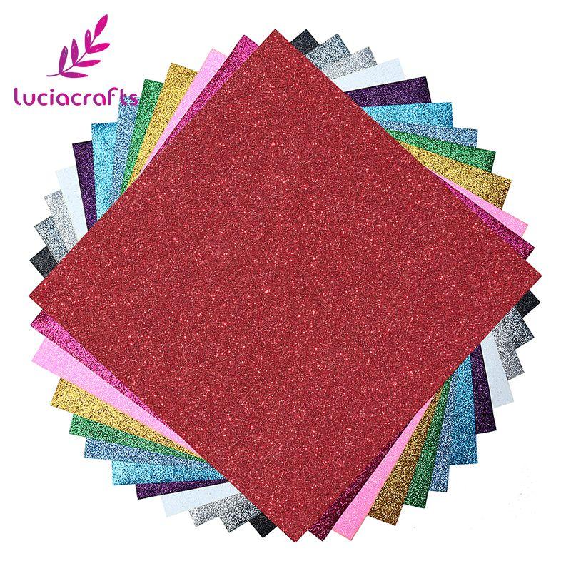 Lucia Crafts 12 sheets Heat Transfer Vinyl Heat Press Cut by Cutting Plotter DIY T-shirt Garment Handmade Materials 082007370