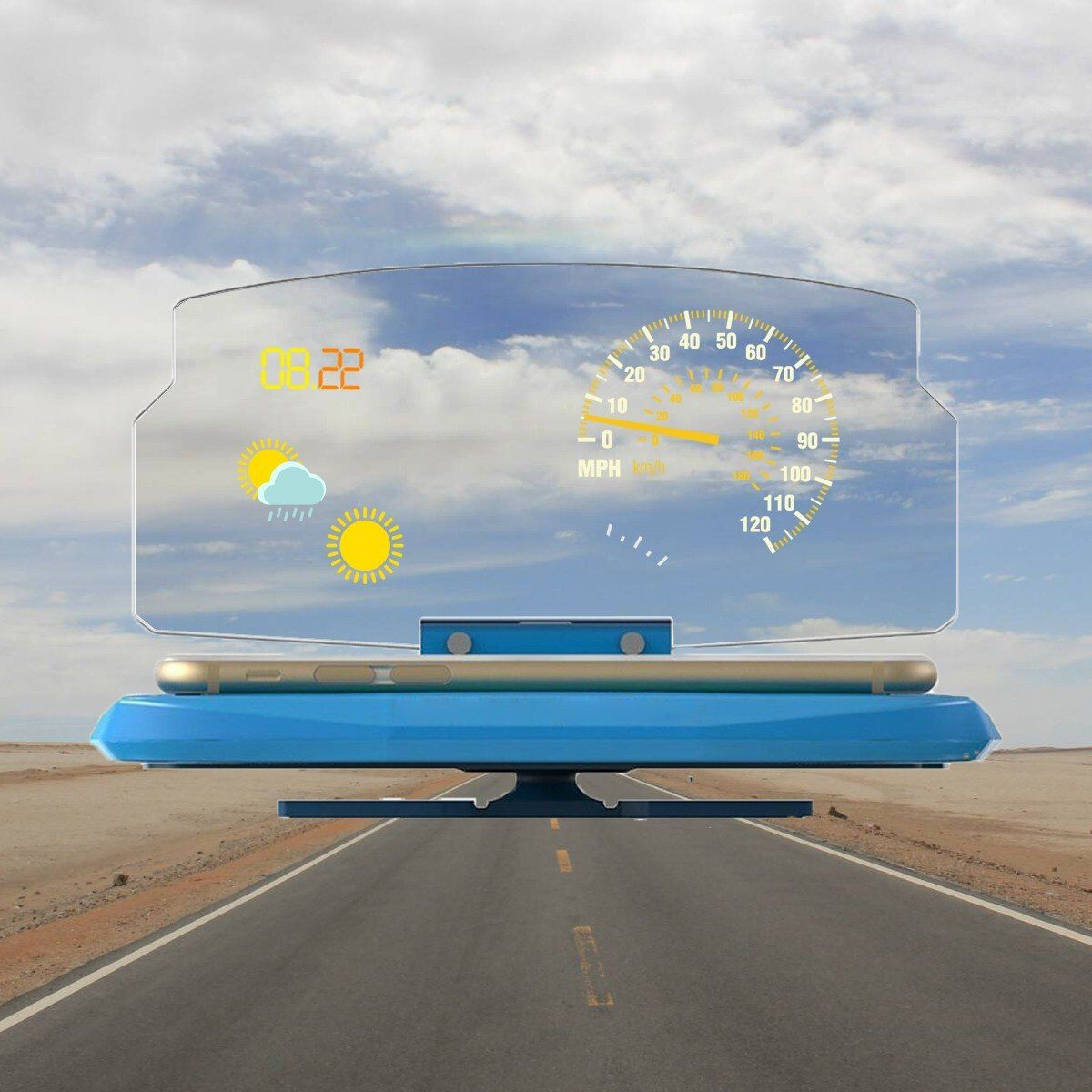 Universal Mobile Phone Support Navigation Mount Car GPS HUD Head Up Support Projection Display Mount Bracket Holder