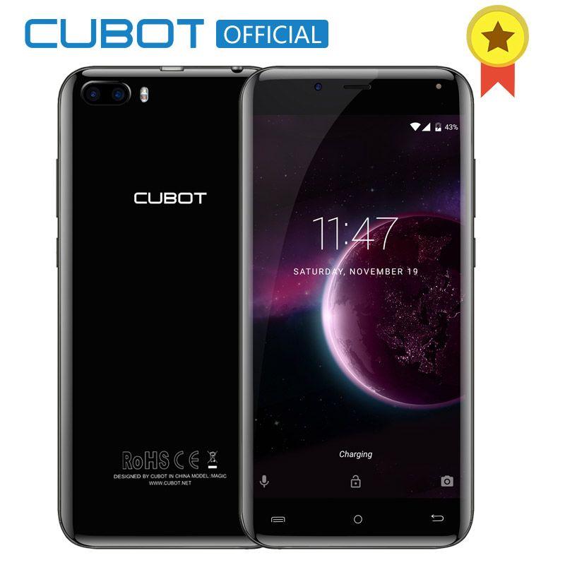 Cubot Magic MT6737 4 ядра сзади две камеры Android 7.0 3 ГБ Оперативная память 16 ГБ Встроенная память смартфон 5.0 дюймов HD Изогнутые дисплей Celular 4 г LTE