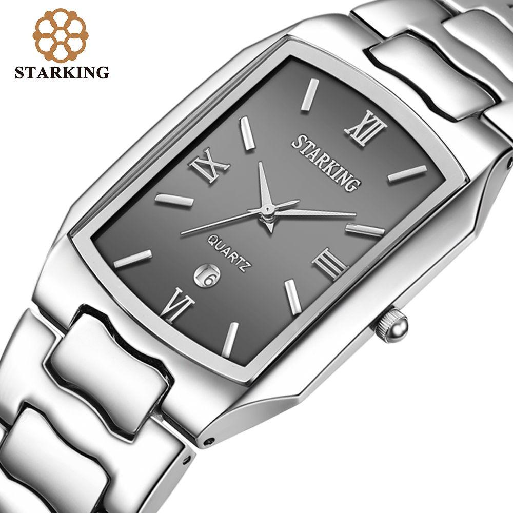 STARKING hommes japonais mouvement Quartz montres hommes d'affaires 2016 arrivée décontracté célèbre marque en acier inoxydable montre BM0605