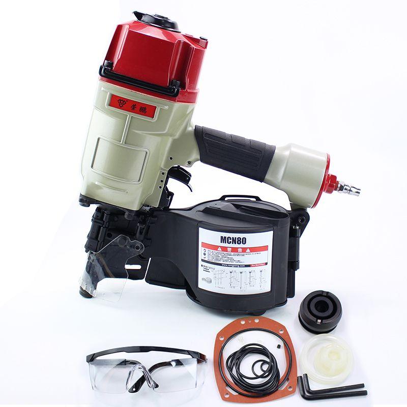 Qualität CN80 Industrielle Pneumatische Spule Nagler Luft Nagler Pistole Pneumatische Nageln Gun Air Werkzeug