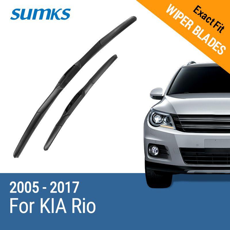 SUMKS Limpiaparabrisas Cuchillas para KIA Rio 22
