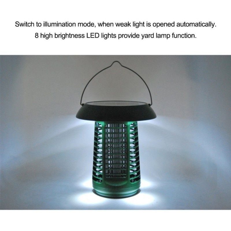 KKWL Solar Mosquito Zapper Waterproof LED Light Pest Bug Zapper Insect Mosquito Killer Lamp For Ground Garden Lawn Residential