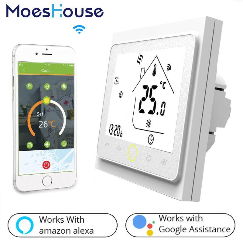 WiFi thermostat intelligent contrôleur de température pour L'eau/Électrique Chauffage Par Le sol de L'eau/Chaudière À Gaz Fonctionne avec Alexa Google Maison