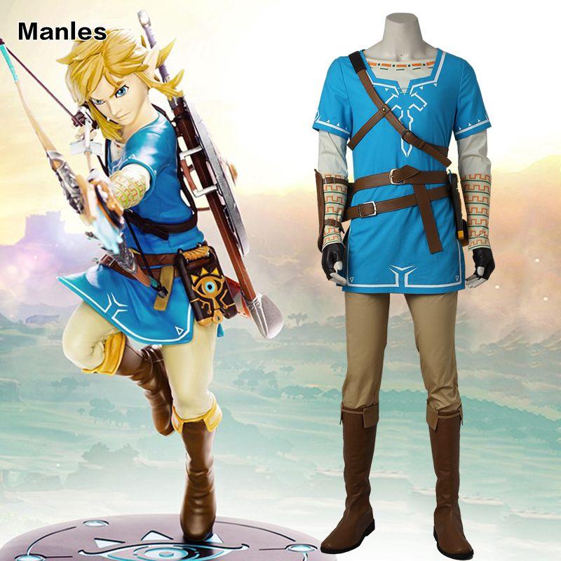 The Legend of Zelda Atem der Wilden Link Cosplay kostüm Anime Uniform Halloween Karneval Cosplay Erwachsene Männer Blau Hemd Unisex