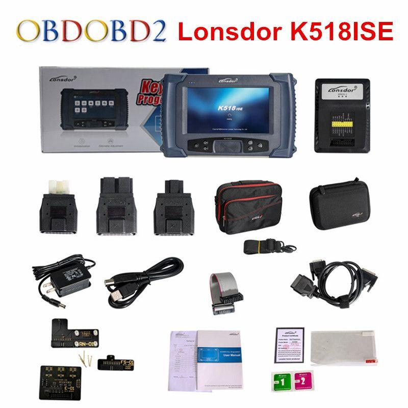 Original Lonsdor K518ISE Auto Key Programmer with Odometer Adjustment K518 ISE Free For BMW FEM Key Programming Update Online