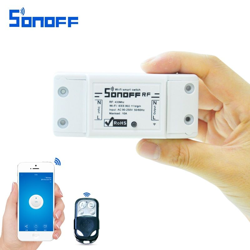 sonoff rf Smart Remote Control wifi light switch 220V /10A/2200w <font><b>433Mhz</b></font> with Timing for ios