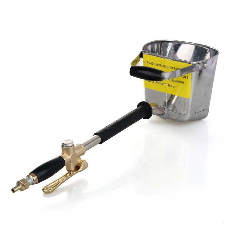 4-5L Automatic Wall Sprayer Gun For Cement/Plaster/Mortar/Stucco ,Shovel Hopper Ladle Pump, Waterproof/Fireproof Air Spray Gun