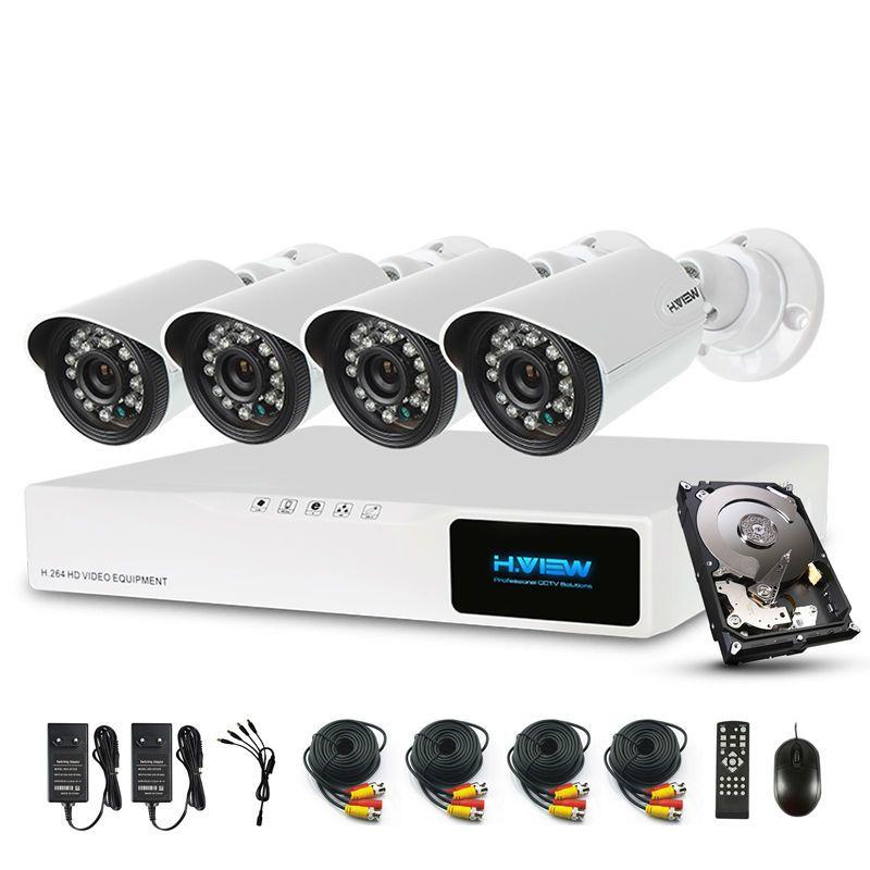 H. ansicht 720 p CCTV Sicherheit Kamera System 1 tb HDD CCTV Kamera System CCTV 8CH DVR 4 720 p Sicherheit kamera Einfach Smart-Phone Access