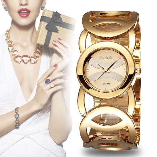 WEIQIN Marque Luxe Cristal Or Montres Femmes Bracelet De Mode Montre À Quartz Choc Étanche Relogio Feminino orologio donna